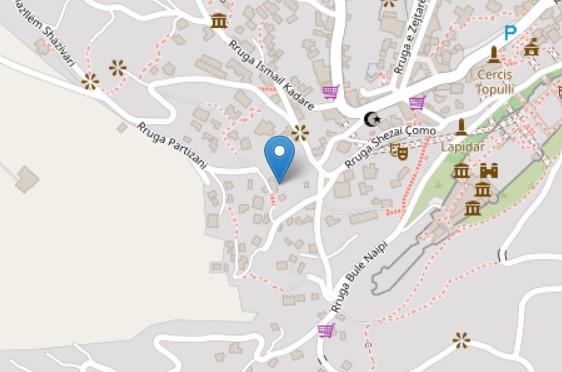 Papadhopuli house map