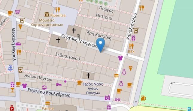 Philharmonic Society of Corfu map
