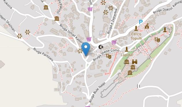 Xheneti house map